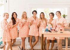 Eight Bridesmaid Robes. Bridesmaid Pajamas. by ModernKimonoRobes