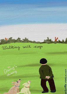 Cani in Cornice: Walking with dogs...Daisy's diary...by Gabriella Vantini
