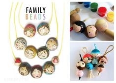 Art Doll Tutorial, Bead Crafts, Art Dolls, Advent Calendar, Beads, Create, Holiday Decor, Diy, Wooden Beads