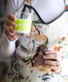 Gluten-free Zucchini Chocolate Brownie. Via Gluten-free Goddess.