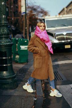 comment porter une écharpe en hiver écharpe rembourrée