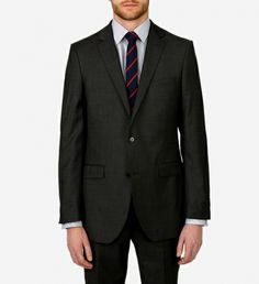 Charcoal Wool Suit by Paul Betenly $650 | Paul Betenly's Ronaldo/Roma combination is one of our best selling suits for good reason: Super 120 fabric, and nanotechnology make it both wrinkle and stain resistant, and the half canvas construction means you get a quality made garment at an excellent price. | GOTSTYLE.ca
