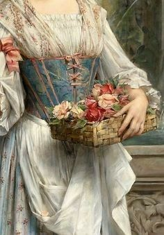 The Flower Seller by Léon Francois Comerre 1850 – 20 February Classic Paintings, Old Paintings, Beautiful Paintings, Renaissance Paintings, Renaissance Art, Aesthetic Painting, Aesthetic Art, Painting Wallpaper, Victorian Art