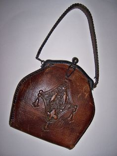 Antique Art Nouveav Deco leather purse by TheVintageBrush1 on Etsy, $75.00