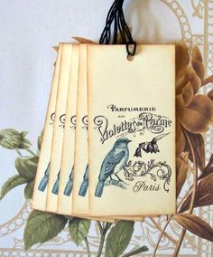 Tags Paris Blue Bird Gift Tags Favor Tags Wish Tree by bljgraves, $4.00