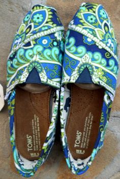 Vera Bradley covered Toms from Fancy Toms on Etsy.