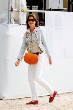 June 2011 - International Cannes Jumping' Global Champion Tour in Cannes Ernst August, Princesa Carolina, Monaco Royal Family, Princess Alexandra, Red Accessories, Royal House, Grace Kelly, White Jeans, India