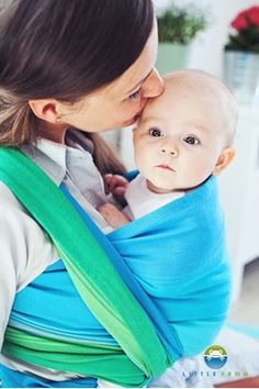 689fd42feb9 Little Frog Marine Opal Woven Wrap Size Baby Carrier