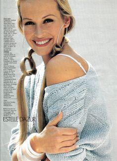 ☆ Estelle Lefebure | Photography by Marc Hispard | For Elle Magazine France | April 1993 ☆ #Estelle_Lefebure #Marc_Hispard #Elle #1993