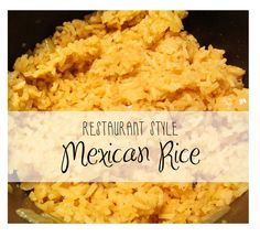 Restaurant Style Mexican Rice - It Comes Full Circle