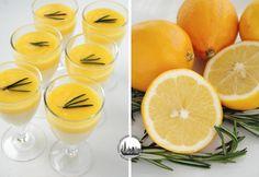 Panna cotta al rosmarino, con lemon curd di limoni Meyer