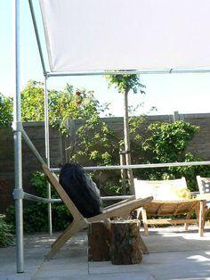Prieel steigerbuis tuin