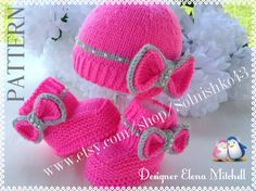 P A T T E R N  Knitting Baby Set Baby Shoes Knitted Baby Hat Pattern Baby Booties Baby Boy Baby Girl Pattern ( PDF file ) on Etsy, $10.00