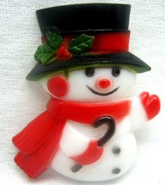 Christmas Brooch Pin Vintage Holiday Jewelry Auctions BUY VINTAGE AS GIFTS #Unbranded