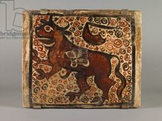 Ceiling Tile, second half 15th century (slip-painted earthenware)