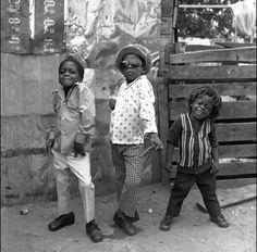 Three boys in Jamaica, 1974 © Rose Murray