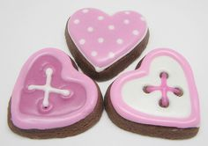 cute as a button Valentine's cookies