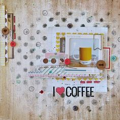Heya :) I hope everyone has had an awesome week! I've had a go at the June Stuck? I love the simplicity of this sket. Coffee Heart, Coffee Love, Scrapbook Pages, Scrapbook Layouts, Digital Scrapbooking, Scrapbooking Ideas, Arts And Crafts, Paper Crafts, Cool Art
