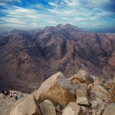 Sinai Mountains, Egypt |  Located in Egypt's Sinai Peninsula, the biblical Mount Sinai is referenced in Abrahamic religions as the location where Moses received the Ten Commandments.