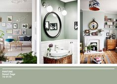 We discuss the current trending colour sage and how it works in the home. 2018 Interior Trends, Decor Interior Design, Interior Decorating, Color Trends, Pantone, Gallery Wall, Mirror, Inspiration, Furniture