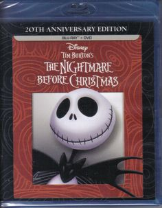 The Nightmare Before Christmas BLU-RAY   DVD * 20th Anniversary w/ Gift Box NEW!