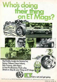 1969 ET Mags Advertising Hot Rod Magazine October 1969
