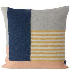 Kelim cushion, White Lines, by Ferm Living.