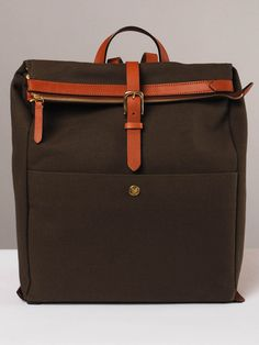 Mismo Express Backpack in Army/Cuoio