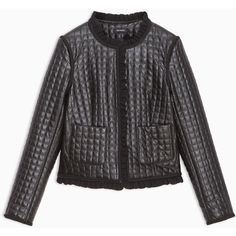MAX&Co. Boxy jacket with stitching (2.135 NOK) ❤ liked on Polyvore featuring outerwear, jackets, black, box jackets, hip length jacket, fleece-lined jackets, boxy jackets and stitch jacket