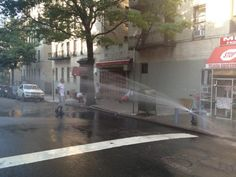 6/21/2012:  NYC fire hydrants are open It is now officially summer! photo by @bryanmccolgan