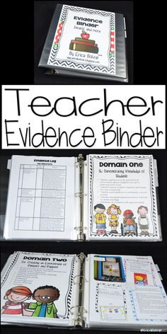 Teacher Evidence Binder based on the Danielson Rubric.
