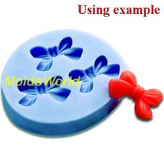 A168 Silicone Mold Bowknot Bow 3 Cavities Flexible Mould for Polymer Clay Resin Candy Fimo Super Sculpey Crafts Jewelry