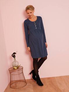Slub Jersey Knit Dress, for Maternity - blue dark solid, Maternity Maternity Sale, Black Sesame Ice Cream, Jersey Knit Dress, Dior, Pulls, Charlotte, Tunic Tops, Dresses, Style