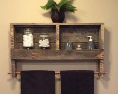 This toilet paper/Magazine holder looks wonderful in a modern rustic bathroom. Displays your toilet paper and additional items on its sturdy shelf, while also keeping your favorite magazines beautifully displayed! Dimensions 18.5x12x4 The natural style of the wood we choose varies from board to board. Like a snowflake, no two pieces of wood are the same, so expect minor variations such as tiny cracks, knots, and nail holes, all of which display the history of your piece. At our workshop…