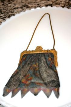 Whiting and Davis Dresden Mesh Purse//Flapper by TresorsJeAmour