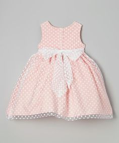 bdf3a99a7ee Marmellata Coral Polka Dot Overlay Dress - Girls
