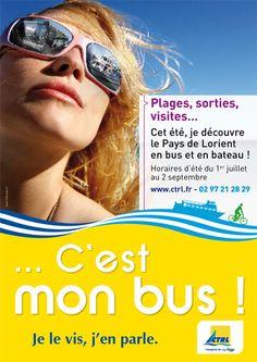 Création de l'affiche d'information des horaires été de keolis Lorient. Création originale de l'agence de com de Lorient