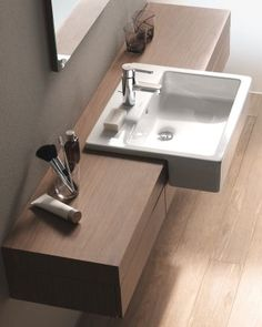 duravit sink that projects in front of counter fogo console only deep with drawers sink projects forward past edge