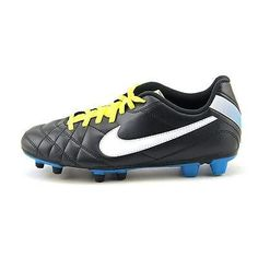 Nike Womens Tiempo Rio FG Soccer Cleats Dark Gray White Electric Yellow Size 6 * You can get additional details at the image link.