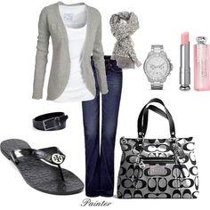 Laid back, casual Spring. I love this outfit, dressy-yet casual! Moda Fashion, Womens Fashion, Fashion Trends, Ladies Fashion, Fashion Ideas, Fashion Images, Runway Fashion, Fashion Tips, Looks Style