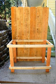 This DIY potting bench using fence boards was a budget friendly way to get a potting bench! We built this for around $40.
