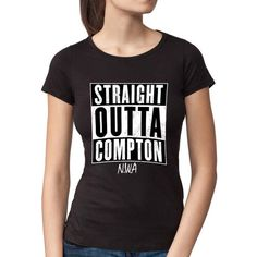 nice Straight Outta Compton Design T-Shirt for Women