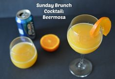 HAVE YOU HAD YOUR BEERMOSAS TODAY - yes it is a thing. 1/2 #beer 1/2 #OJ. Have one for #SundayBrunch today. Can even make #nonalcoholic ones w/ #NA beer . .  #brunch #Sunday #liquor #drinking #Drinks #cocktail #cocktails #sundays #orange #orangejuice #juice  Photo by www.sofabfood.com