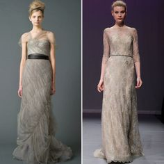 gray wedding dress. #KendraScott