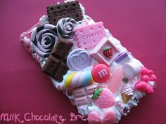 Pink and Chocolate iPod Touch Decoden Case by =Frainy on deviantART