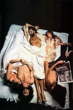 I love fleetwoodmac. Mac in bed by Annie Leibovitz. youtubemusicsucks.com #fleetwoodmac #petergreen