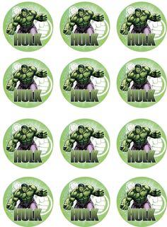 Hulk Edible Image Cupcake Toppers by ShoreCakeSupply on Etsy