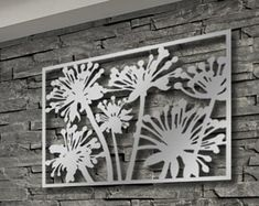 Laser Cut Metal Decorative Wall Art Panel Sculpture for Home, Office, Indoor or Outdoor Use (Floral)