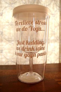 Wine Sippy Cup  Wine to Go Cups  To relieve stress by TheDesigNest, $18.00