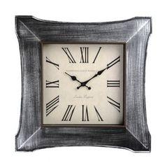 Distressed Silver Butterfly Clock | Kirklands